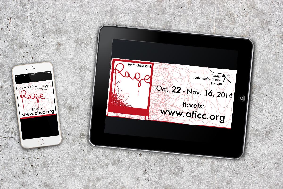 Graffan Art & design banery internetowe spektaklu Rage Ambassador Theater w Waszyngtonie