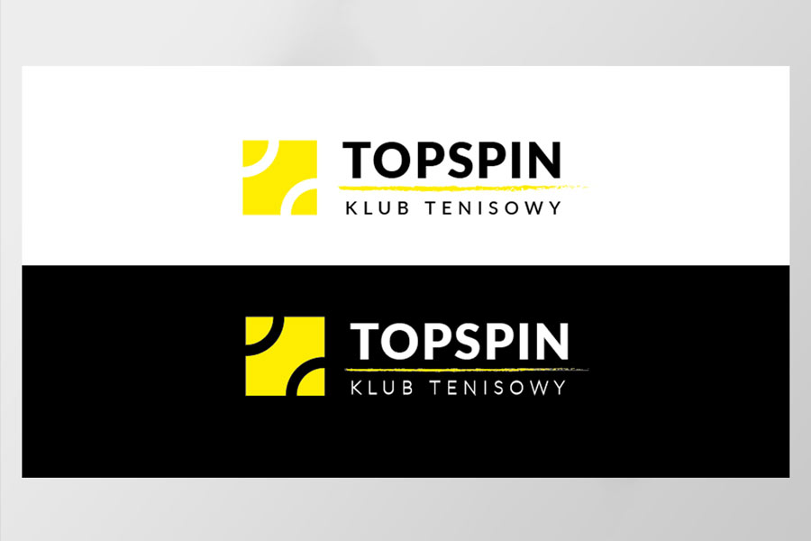branding dla: Klub Tenisowy Topspin, projekt logo, ilustracje, plakat, broszura, ulotka, projekt i wykonanie strony internetowej, funpage na facebooku, projekt koszulki. Projekt: Anna Klamczyńska